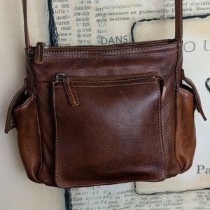 Fossil Vintage leather crossbody organizer